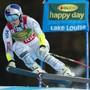 Lindsey Vonn 2015 auf dem Weg zum Super-G-Triumph in Lake Louise