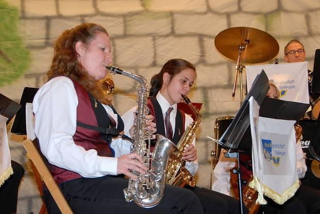 Frauenpower beim Saxofonregister der Musikgesellschaft Rekingen