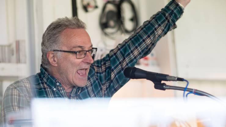 Als Speaker zeigte Jürg Naegeli auch ab und zu Emotionen.