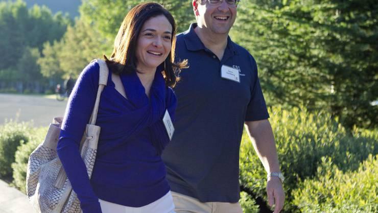 Sheryl Sandberg und ihr inzwischen verstorbener Mann David Goldberg (Archivbild von 2011).