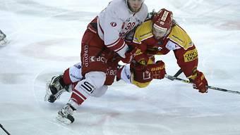 Langnaus Lukas Haas (r.) gegen Lausannes Jannik Fischer.