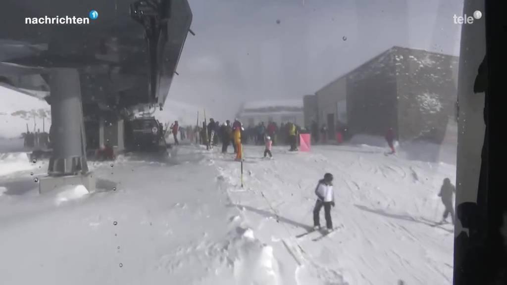 Andermatt mit reduziertem Skibetrieb