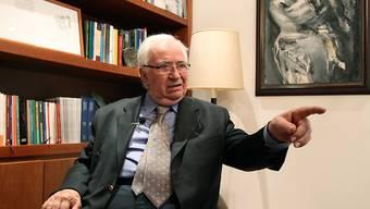 Der ehemalige Präsident Kolumbiens, Belisario Betancur, ist am Freitag in hohem Alter in einem Spital verstorben. (Archivbild)
