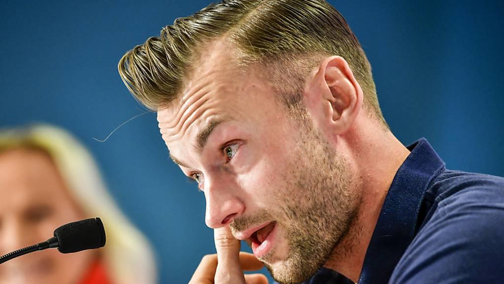 Der Olympiasieger und mehrfache Weltmeister Petter Northug bei der Ankündigung seines Rücktritts im Dezember 2018