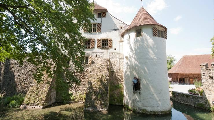 Das Wasserschloss Hallwyl liegt auf zwei Inseln, die von einem künstlich geschaffenen und zwei natürlichen Armen des Aabachs umflossen werden.