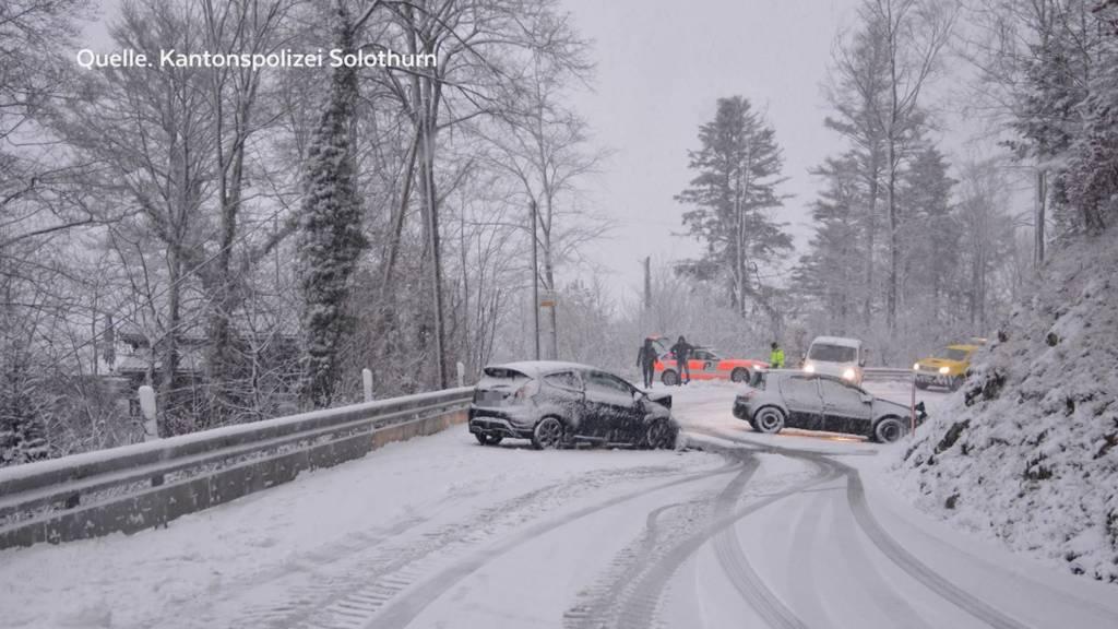 Wintereinbruch sorgt für Unfälle