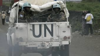 UNO-Blauhelmsoldaten im Kongo (Symbolbild aus dem Jahr 2008).