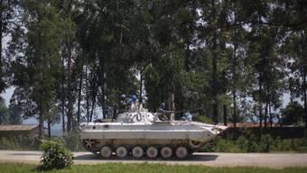 MONUSCO-Panzer nördlich von Goma in Kongo Kinshasa
