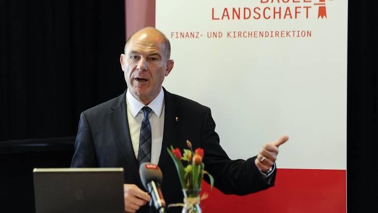 """Mit dem Abschluss habe der Kanton Basel-Landschaft einen """"Meilenstein"""" erreicht, sagte Finanzdirektor Anton Lauber am Mittwoch vor den Medien in Liestal."""