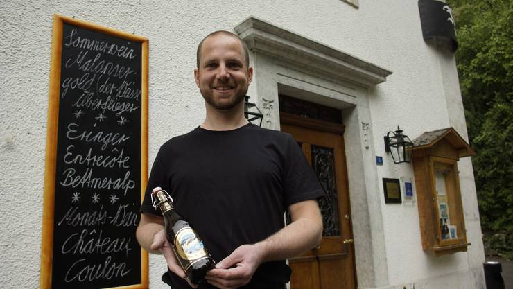 Dominique Boutellier, als er vor mehr als einem Jahr sein Bier lancierte.