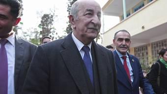 In Algerien ist der frühere Regierungschef Abdelmadjid Tebboune zum Präsidenten gewählt worden.