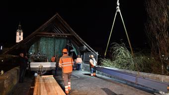 Holzbrücke Olten Notbrücke Fussgängersteg