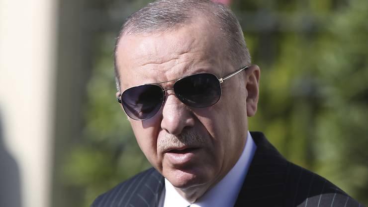 Der türkische Präsident Recep Tayyip Erdogan. Foto: -/Turkish Presidency/AP-Pool/dpa