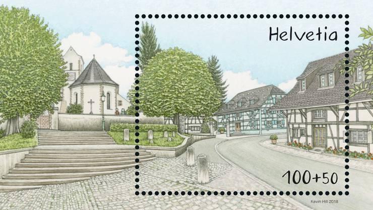 Speziell für die alljährliche Briefmarkenausstellung Allphila, die dieses Jahr in Allschwil stattfindet, gibt die Post eine Briefmarke mit einem Allschwiler Motiv heraus.