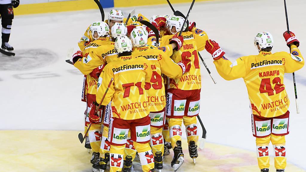 Achter Sieg im achten Spiel: Biel gewinnt mit 4:3 auch das Derby in Bern