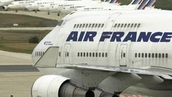 Jede fünfte Maschine der Air France bleibt am Samstag am Boden