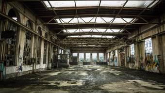 Der Aargau zählt seit 300 Jahren zu den bedeutendsten Industriestandorten der Schweiz. Im Bild: die Aeschbachhalle im Torfeld Sued in Aarau.