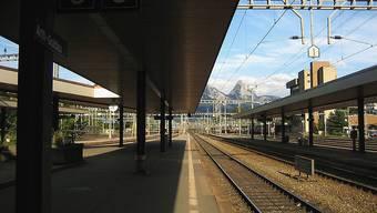 Der Bahnhof Art-Goldau (Archiv)