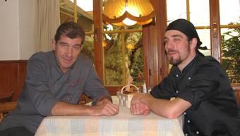 Daniel (links) und Casper Lareida als neue Gastgeber im Landgasthof Jura in Stüsslingen.
