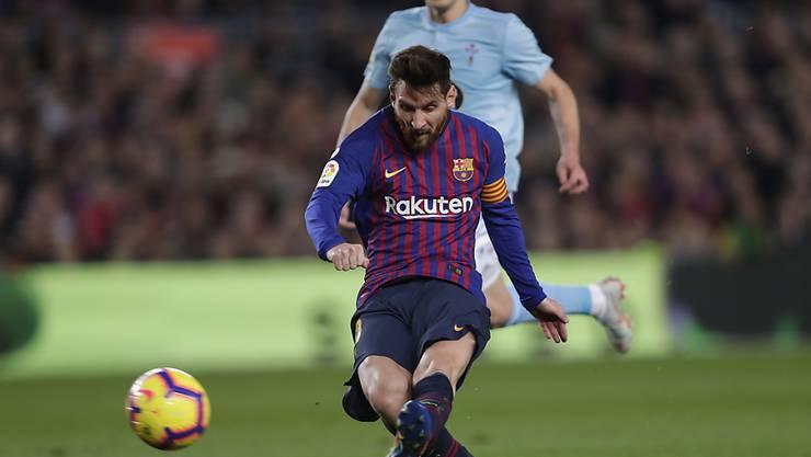 Lionel Messi traf auch beim 2:0 gegen Celta Vigo