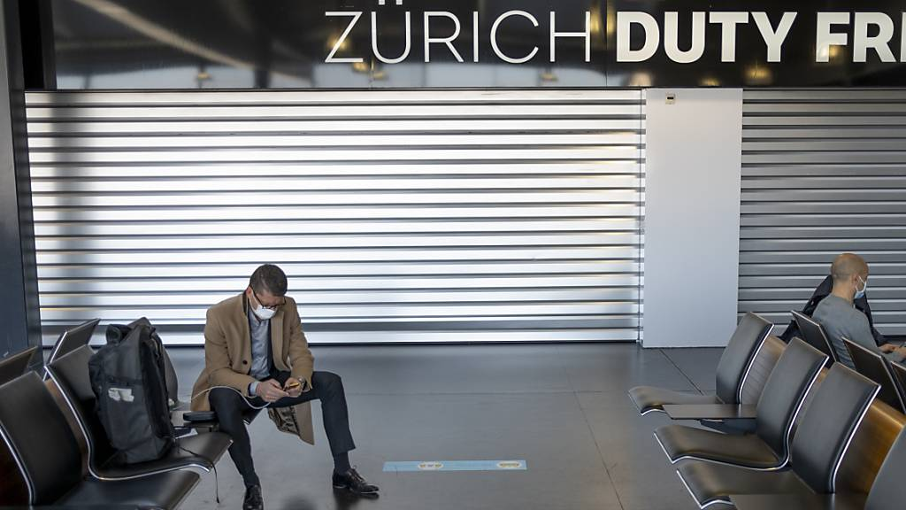 Passagieraufkommen am Flughafen Zürich weit unter Vor-Corona-Niveau