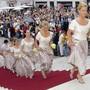 Die Brautjungfern bei der Hochzeit von Thomas Borer und Shawne Fielding in Solothurn 1999