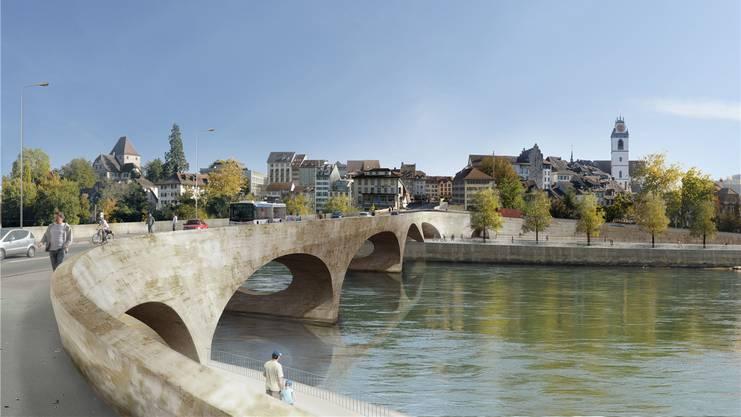 Die Künftige, der «Pont Neuf»: Am Montag beginnen die Arbeiten für die Hilfsbrücke.