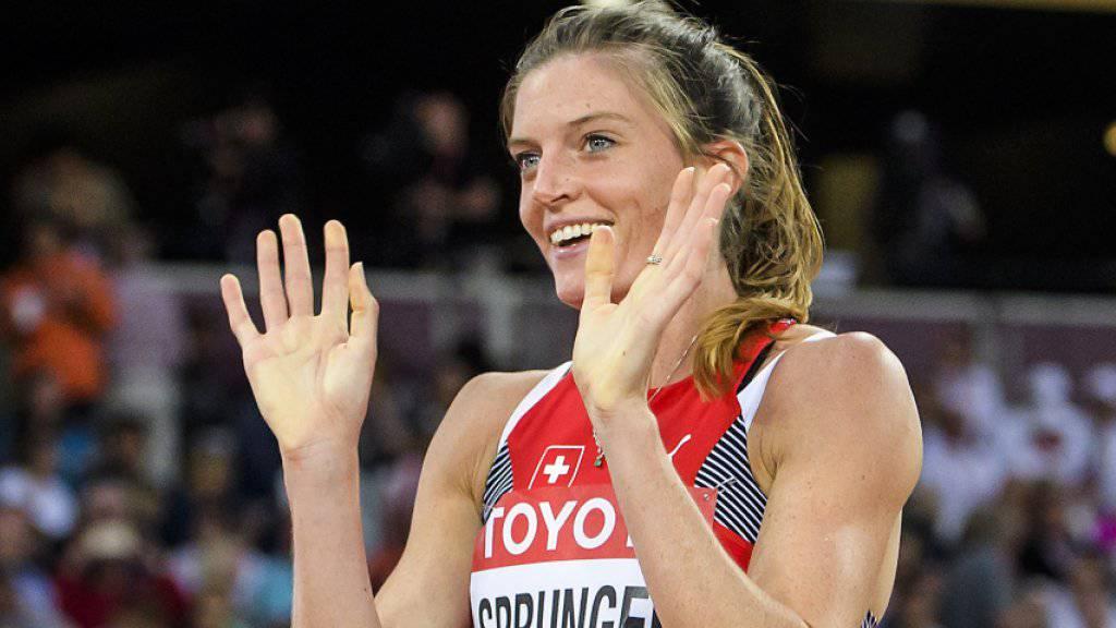 Lea Sprunger kämpft am Donnerstag im Final über 400 m Hürden um die Medaillen.