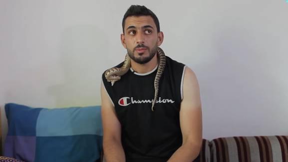 Weltschlangentag: Mann wird während Interview von Schlange gebissen
