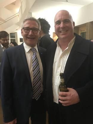 GR-Präsident Markus Erni mit Neo-GR Roger Bleuler