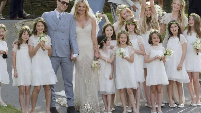 """""""Traum in Weiss"""": Model Kate Moss bei ihrer Hochzeit im Jahre 2011"""