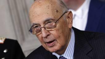 Als Präsident Italiens wiedergewählt: Giorgio Napolitano
