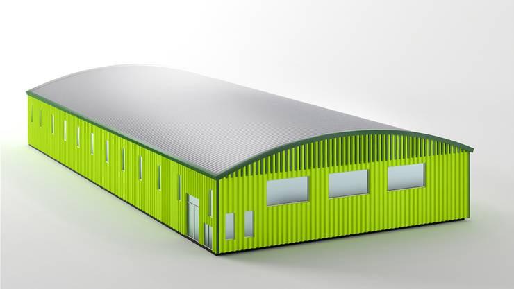 Visualisierung der geplanten Sporthalle.