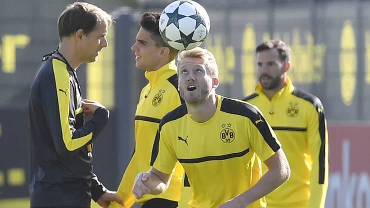 Dortmunds André Schürrle im letzten Training vor dem Champions-League-Spiel gegen Titelverteidiger Real Madrid