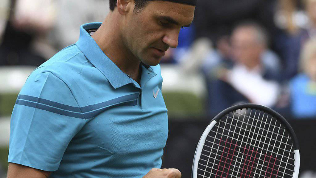 Kämpferische Leistung mit gutem Ende: Roger Federer zog in Stuttgart in den Viertelfinal ein