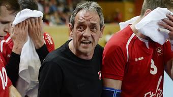 Niederlage für die Schweizer Handballer mit Coach Rolf Brack