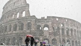 Auch in Rom dominiert die winterliche Kälte