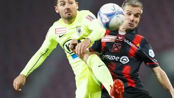 Gianluca Frontino (gelb) war in Wohlen Matchwinner für den FC Aarau (Archivbild)