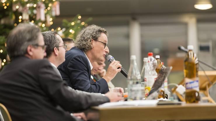 Für Geri Müller war es die letzte Sitzung als Badener Stadtammann