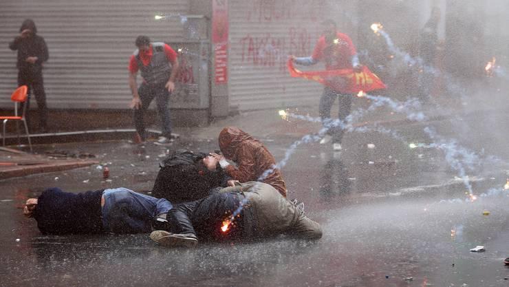 Die Behörden verboten, auf dem symbolträchtigen Taksim-Platz zu demonstrieren.