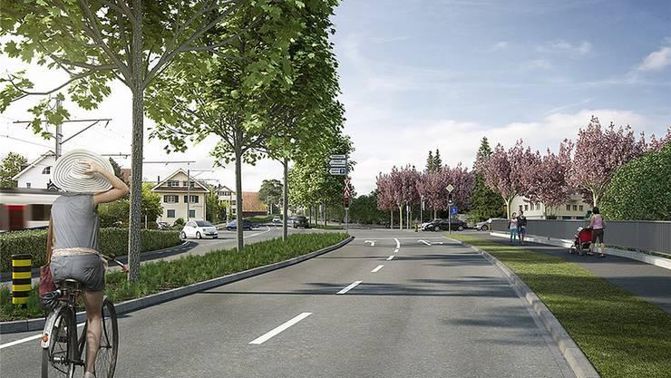 Visualisierung der Neugestaltung des Knoten Zentrum. Swiss Interactive AG