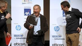 Zum Dahinschmelzen: Sawiris vom Arosa Humor-Festival ausgezeichnet