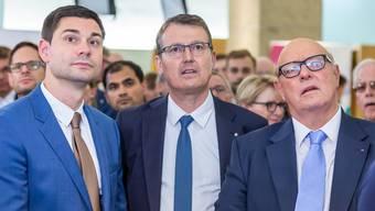 Benjamin Giezendanner, Thomas Burgherr und Ulrich Giezendanner.