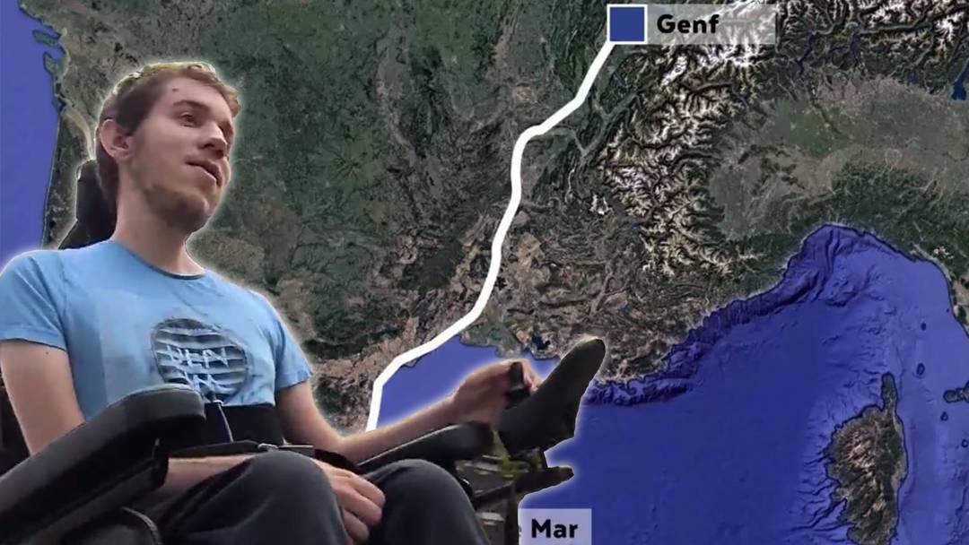 Aargauer fährt im Rollstuhl nach Spanien