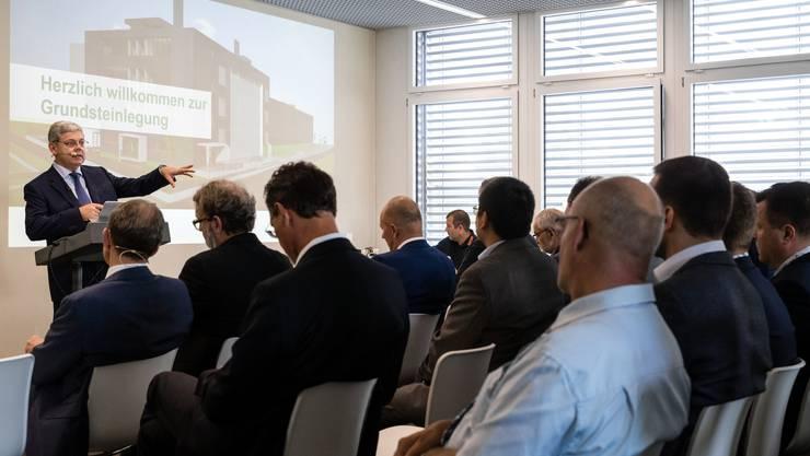Franz Grüter, VR-Präsident von Green, erklärt, warum sein Unternehmen in den Standort Lupfig investiert.