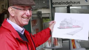 Hans Hezel stellt seine Bilder aus