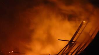 Im März 2008 brannten die Scheune und ein Teil des Ökonomiegebäudes des Bäumlihofguts nieder.  zvg