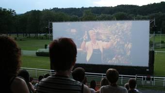 Open-air Kino Aarau. Stimmungsbilder vor Filmbeginn.
