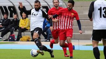 Der FC Brugg macht sich bereit für den Rückrundenstart in der 3. Liga. Im Bild (links): Yanis Ouslama am Ball.