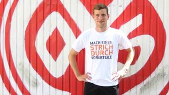 Fabian Frei fühlte sich bereits nach wenigen Tagen bei Mainz 05, als sei er schon mehrere Jahre da. Der Verein sei ähnlich familiär wie sein vorheriger, der FC Basel.Imago/Martin Hoffmann